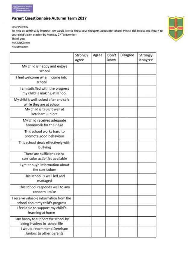 thumbnail of parent questionnaire Autumn 2017
