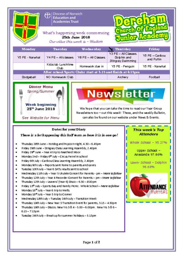 thumbnail of Weekly Bulletin 25.06.18