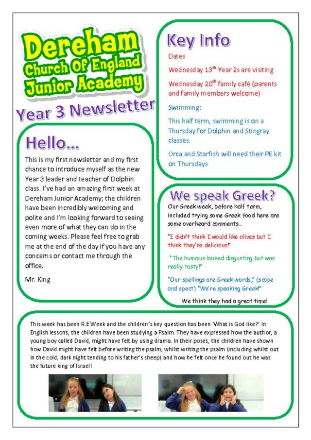 thumbnail of Yr 3 Newsletter 11.06.18