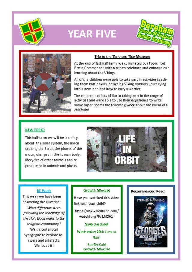 thumbnail of Yr 5 Newsletter 11.06.18