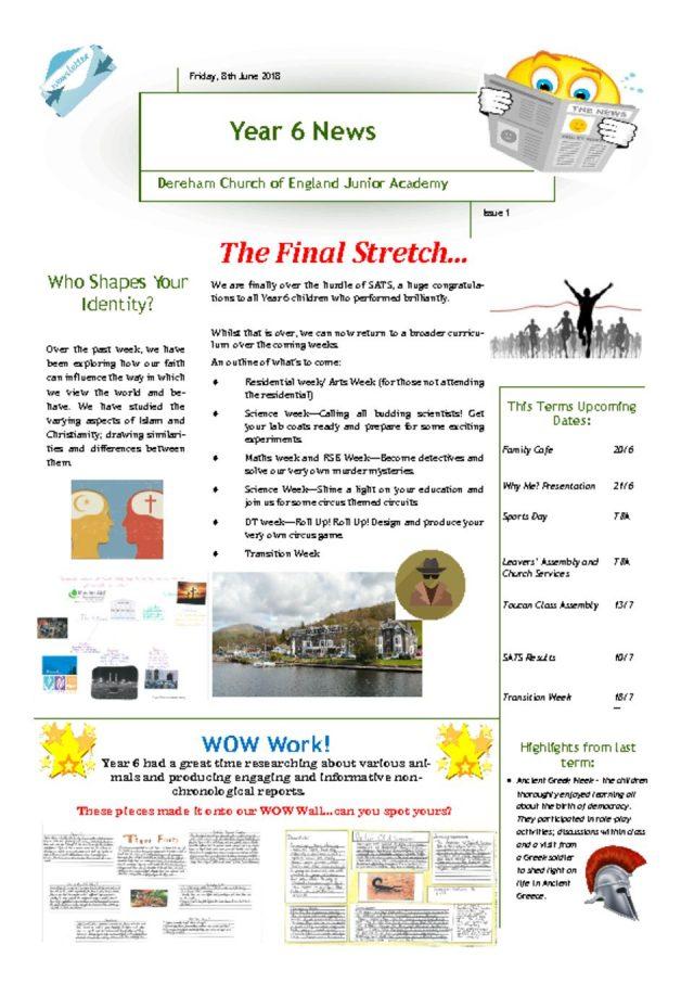 thumbnail of Yr 6 Newsletter 11.06.18