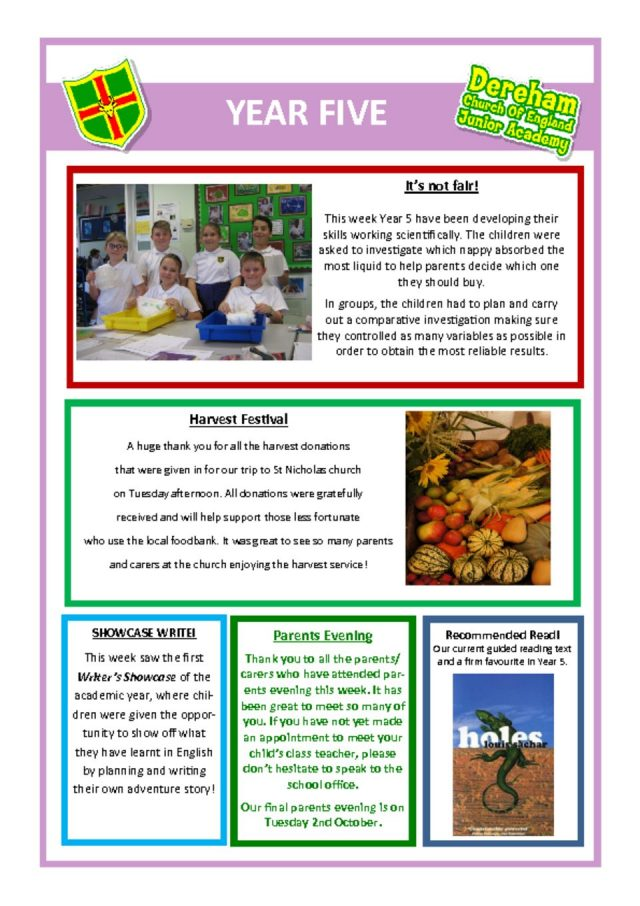 thumbnail of Yr5 Newsletter 1.2