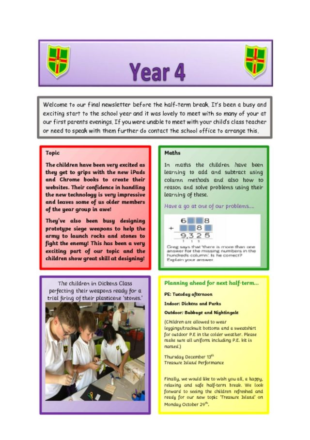 thumbnail of Year 4 newsletter