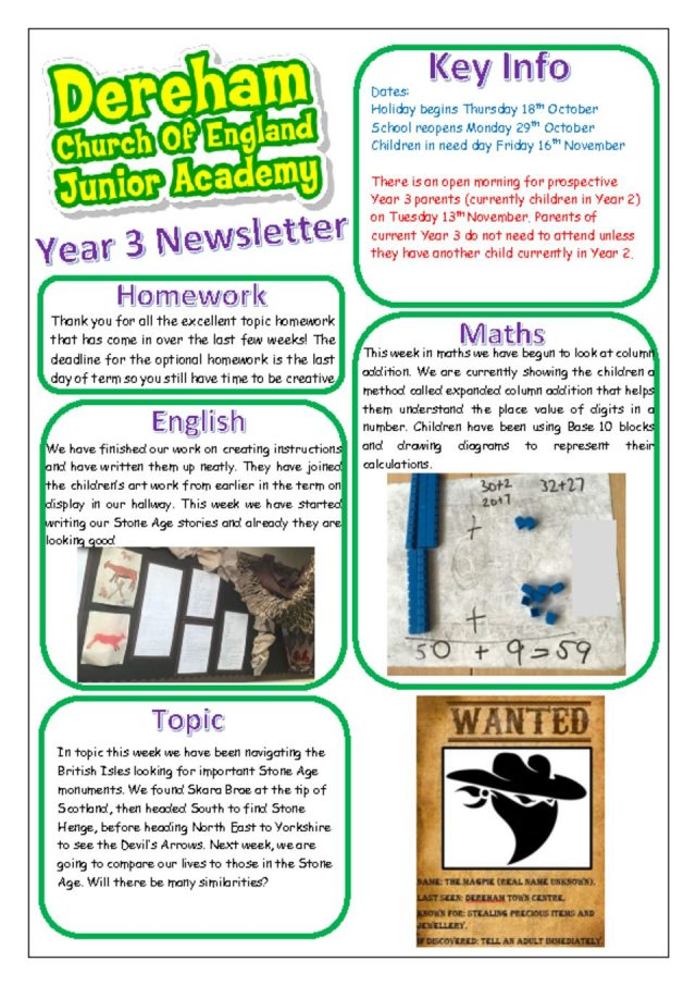 thumbnail of Yr 3 Newsletter Autumn 3