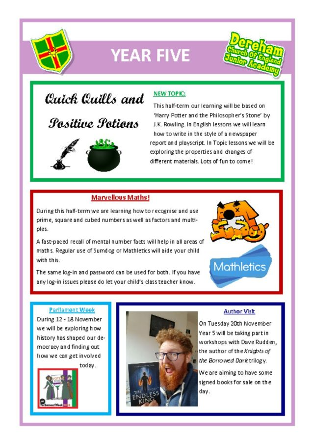 thumbnail of Year 5 Newsletter 12.11.18