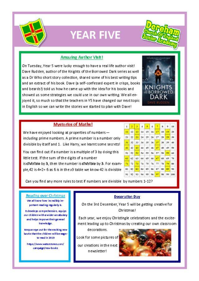 thumbnail of Year 5 Newsletter 26.11.18