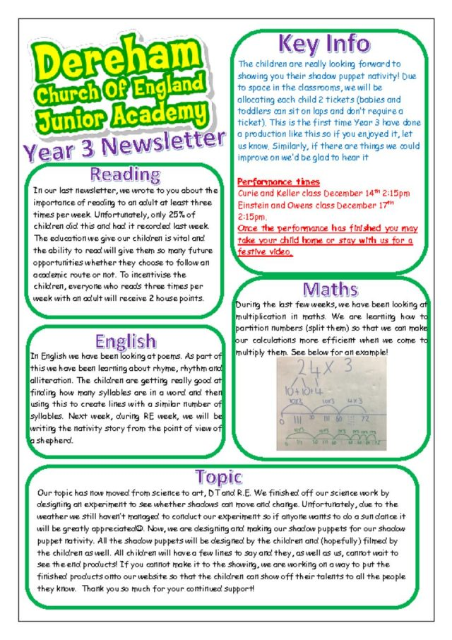 thumbnail of Yr 3 Newsletter