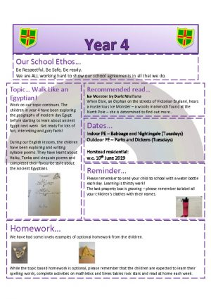 thumbnail of Year 4 Newsletter 21.01.19
