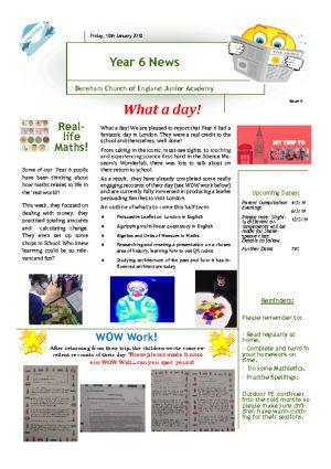 thumbnail of Year 6 Newsletter 21.01.19