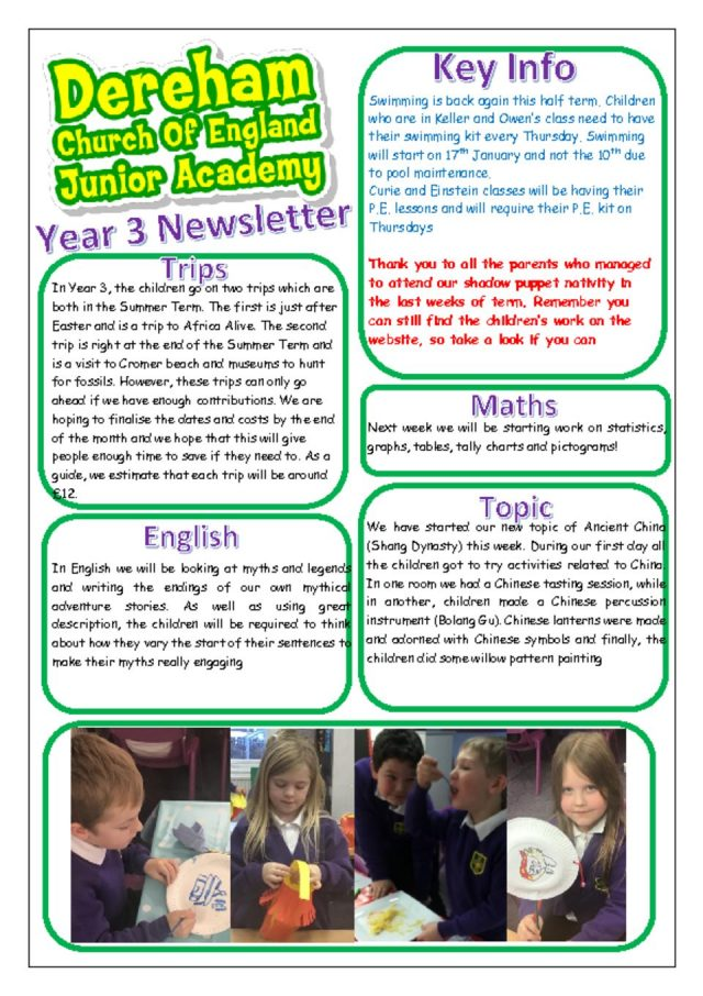 thumbnail of Yr 3 Newsletter Spring 1