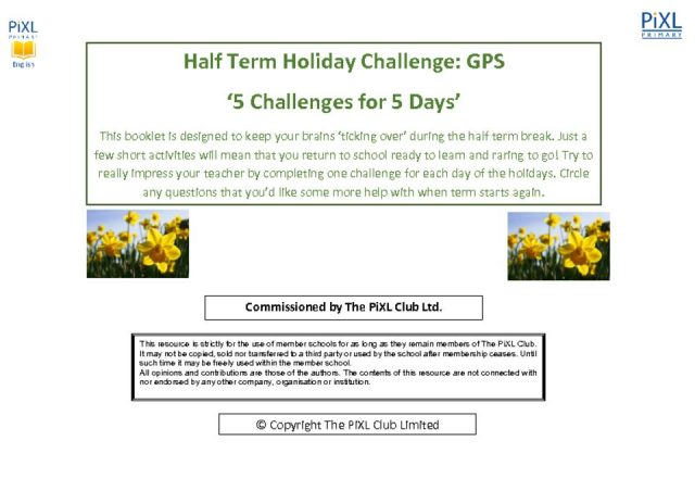 thumbnail of 5 for 5 Holiday Challenge GPS Questions