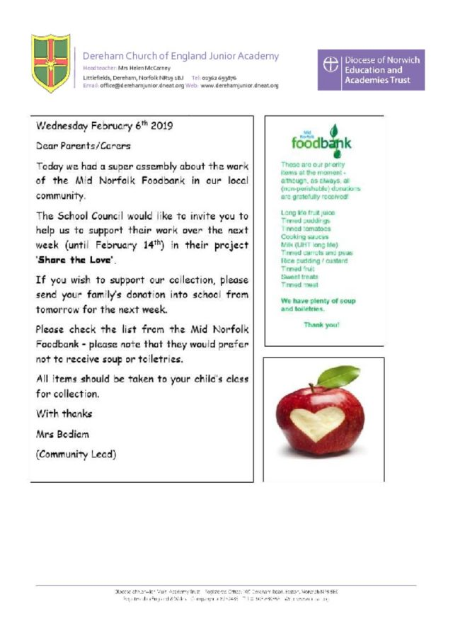 thumbnail of Food bank letter 07.02.19