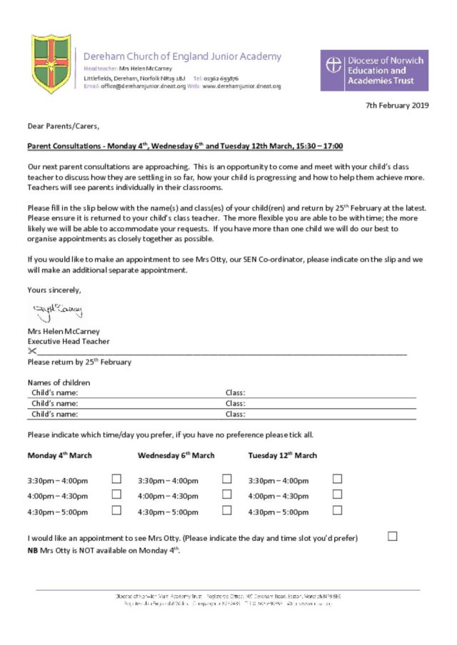 thumbnail of Parents Consultations Ltr March 19