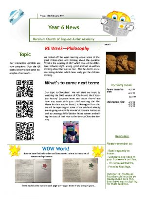 thumbnail of Year 6 Newsletter