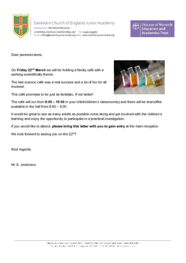 thumbnail of Science cafe letter