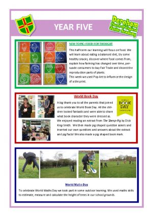 thumbnail of Year 5 Newsletter 10.03.19