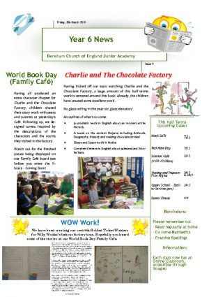 thumbnail of Year 6 Newsletter 10.03.19