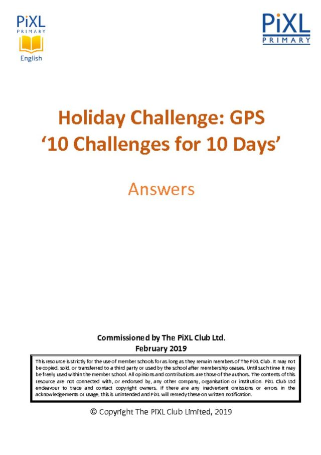 thumbnail of GPS 10-4-10 Easter Holiday Challenge – Answers