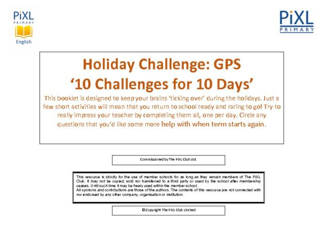 thumbnail of GPS 10-4-10 Easter Holiday Challenge – Questions