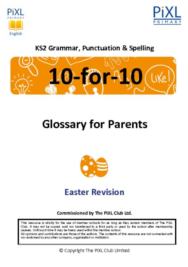 thumbnail of Grammar Parent Glossary