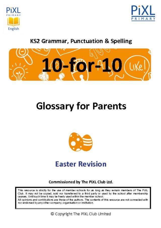 thumbnail of Grammar Parent Glossary