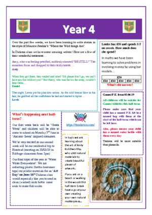 thumbnail of Yr 4 Newsletter