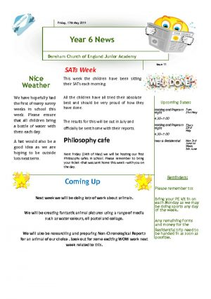 thumbnail of Yr 6 Newsletter