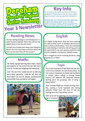 thumbnail of Year 3 Newsletter 10.06.19