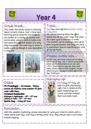 thumbnail of Year 4 Newsletter 10.06.19
