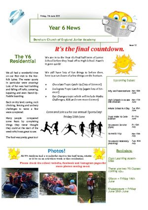 thumbnail of Year 6 Newsletter 10.06.19
