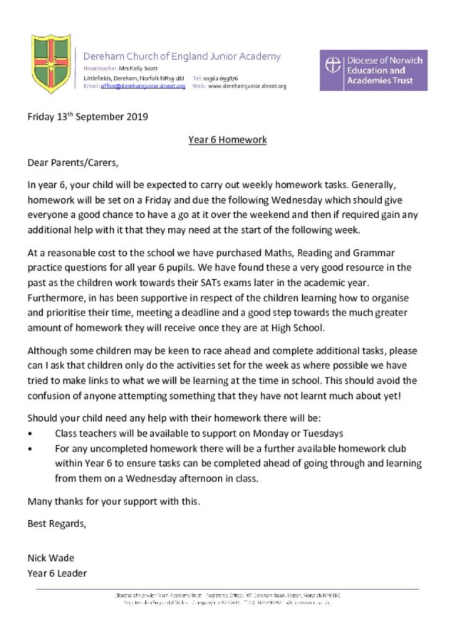 thumbnail of Homework Letter Sept 2019