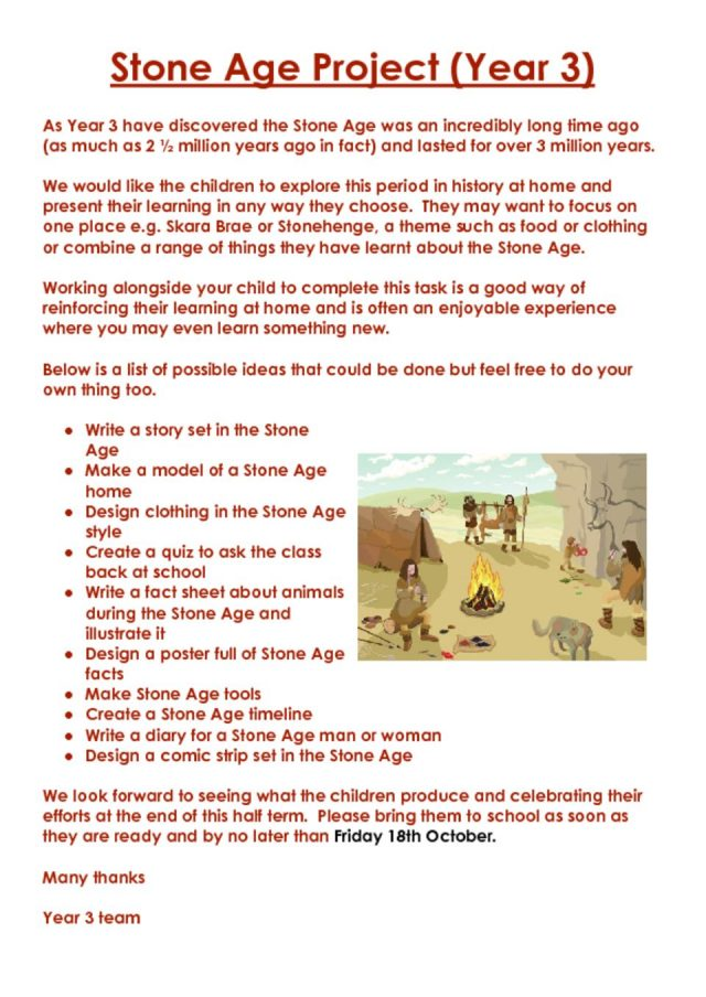 thumbnail of Stone Age homework Project Yr 3