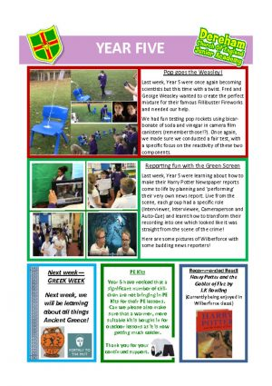 thumbnail of Year 5 Newsletter