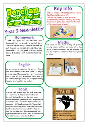 thumbnail of Yr 3 Newsletter