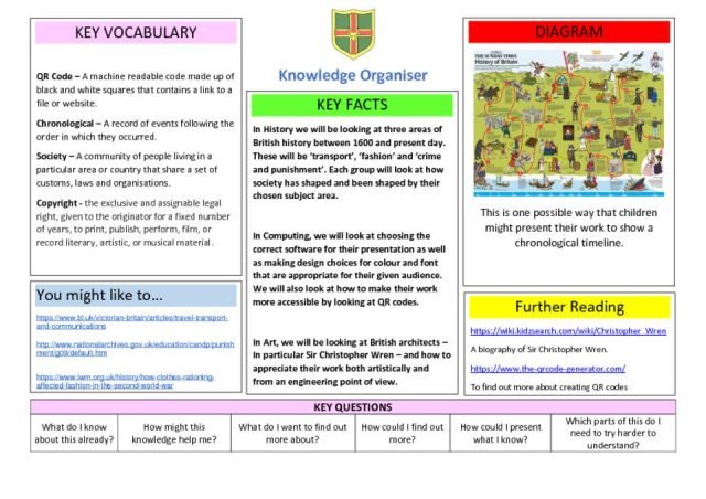 thumbnail of Knowledge Organiser – Time Travellers
