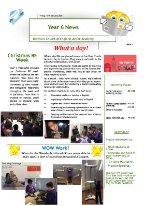 thumbnail of Year 6 Newsletter 10.01.20