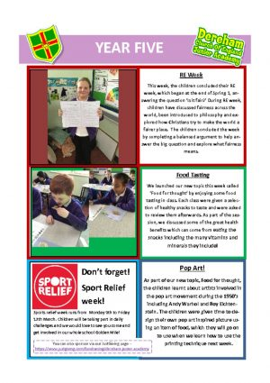 thumbnail of Year 5 Newsletter 01.03.20
